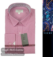 Dark Pink Tailored Fit Shirt by Vichi Style: SAP170