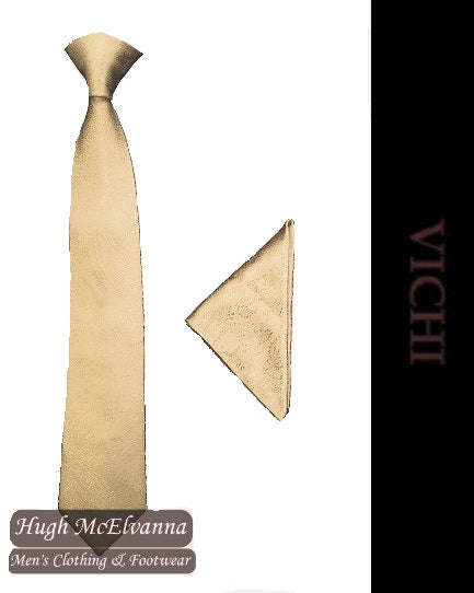 Ivory Tie & Pocket Square Set By Vichi Style: F39