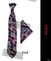 Tie & Pocket Square Set By Vichi Style: F64