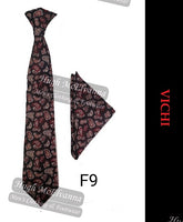 Tie & Pocket Square Set By Vichi Style: F9 Available In 2 Colour Options