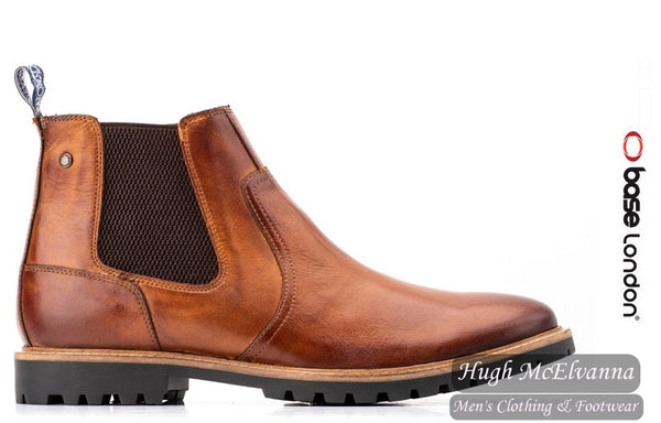 'WILKES' Tan Chelsea Boot by Base London