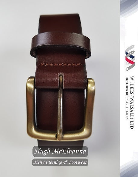 Cabou Full Leather Belt by W. Lees - Hugh McElvanna Menswear