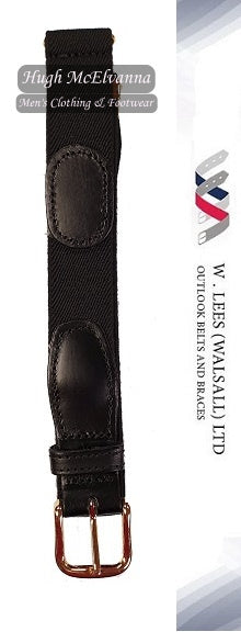 Men's Black Adjustable Elastic Trouser Belt Style: 1999p