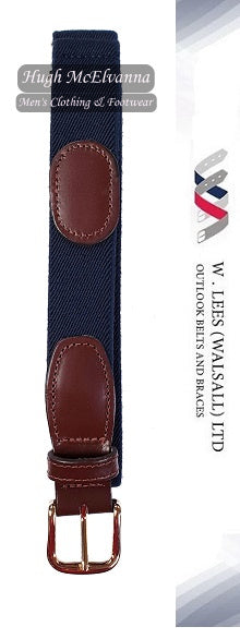 Men's Navy Adjustable Elastic Trouser Belt Style: 1999p