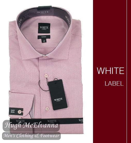 Tapered Fit Pink Fashion Shirt By White Label Style: 4881