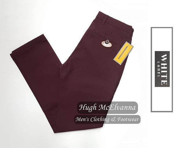 Fashion Stretch Chino by White Label - 2 Colour options available - Hugh McElvanna Menswear