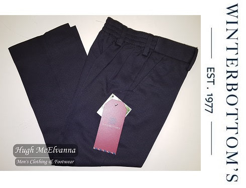 Boys E.W. Trouser Navy By Winterbottom - Hugh McElvanna Menswear