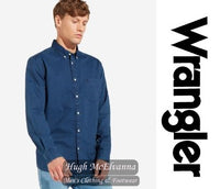 Mens Denim Shirt by Wrangler Style: W58743K8E - Hugh McElvanna Menswear