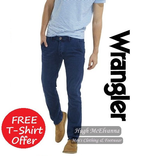 Wrangler SLIM FIT Style: SPENCER  Colour: Tidal Wave