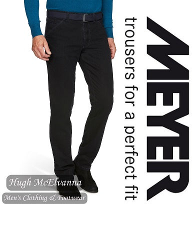 Meyer Navy Cotton Trouser Style: 5555/18 - Hugh McElvanna Menswear