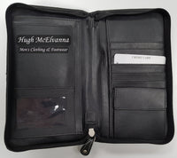 Leather Travel Wallet - Hugh McElvanna Menswear