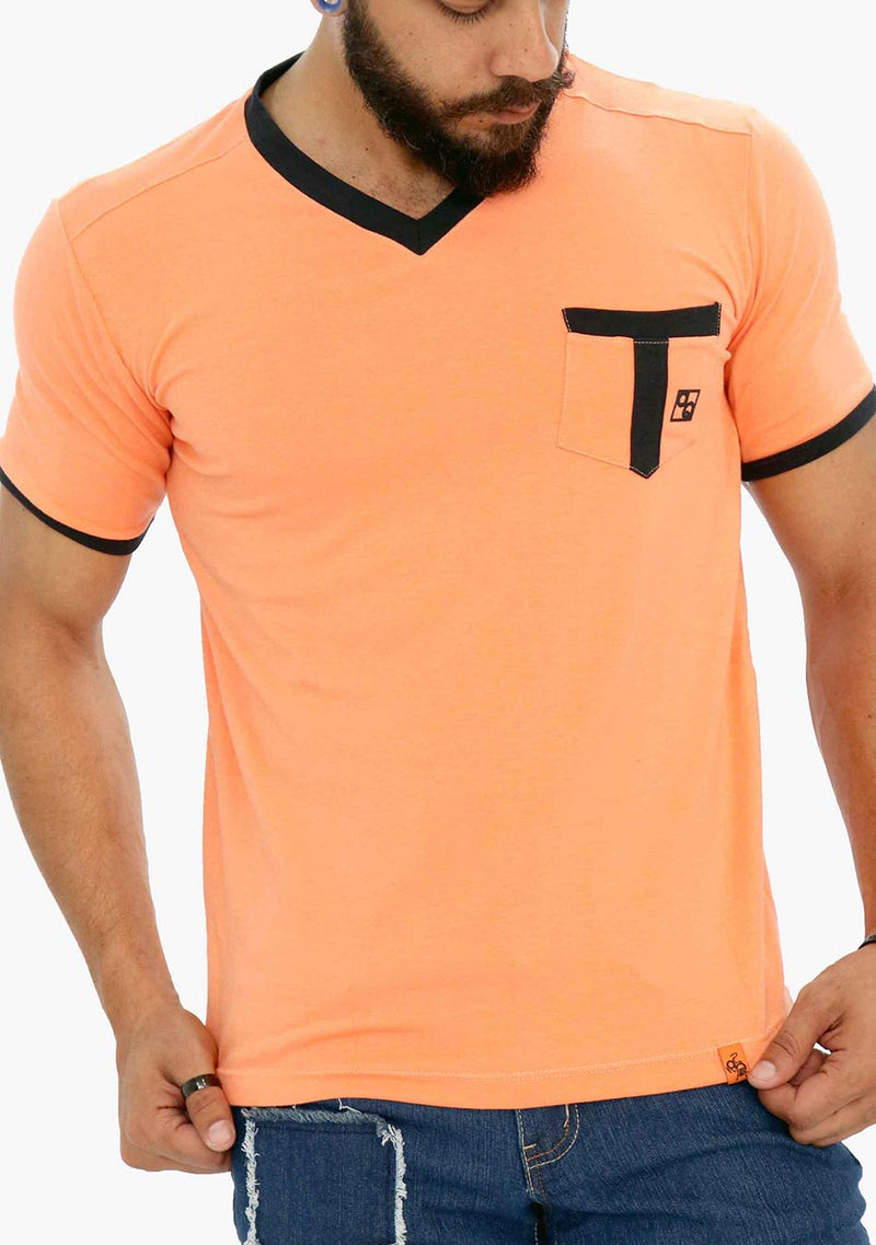 AQ1669B - AQ Men's V-Neck Short Sleeve T-Shirt - anthonyquintana.com