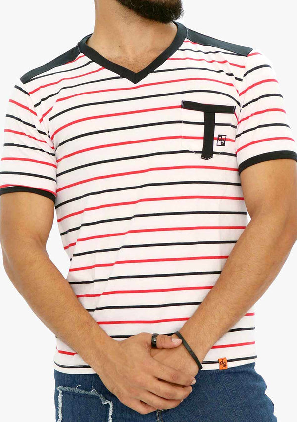 AQ1673 - AQ Mens V-Neck Short Sleeve T-Shirt - anthonyquintana.com