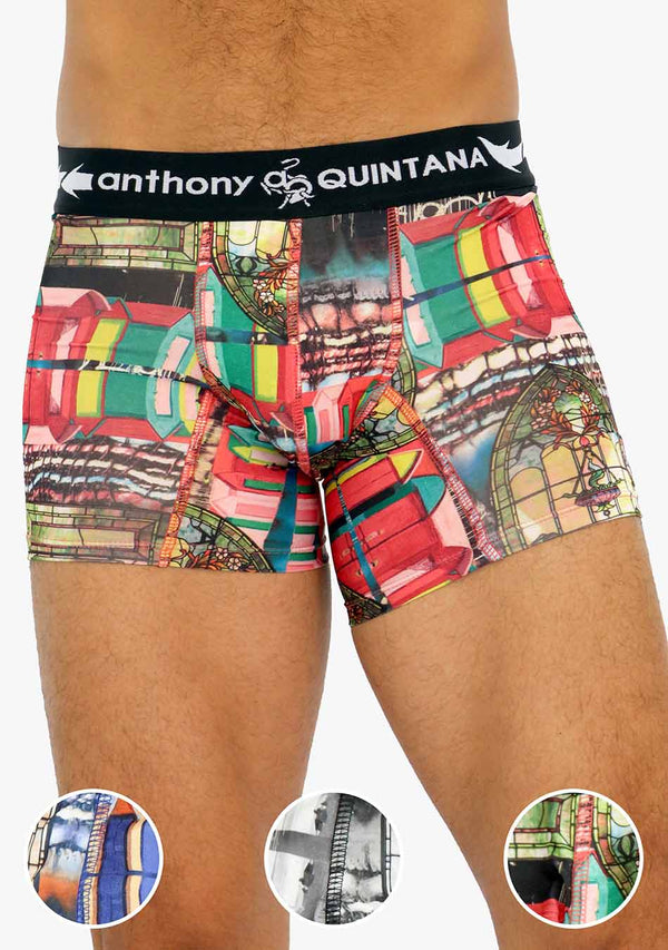 AQ4481B - AQ Men's Hybrid Collection Boxer Briefs Trunk-up 3-Pack