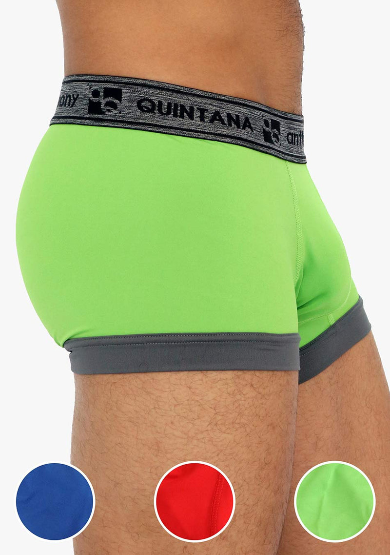 AQ4733 - AQ Men's Hybrid Collection Enhancer Butts UP Boxer Briefs Trunk-up 3-Pack