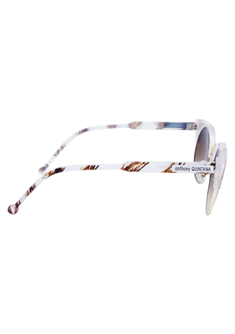 Anthony Quintana Cat Eye  Unisex Retro Sunglasses , AQS 32018 Almond - anthonyquintana.com