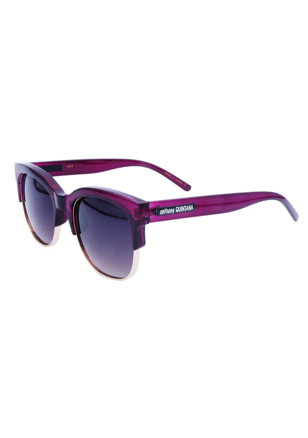 Anthony Quintana Cat Eye  Unisex Retro Sunglasses , AQS 32018 Wine Vino - anthonyquintana.com