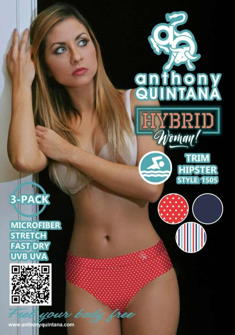 Anthony Quintana Sexy Hiphugger, AQ1505,  High waist Panties Pack (3 PIECES in Pack) Basic Colors