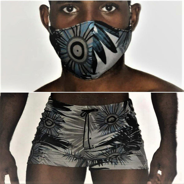 Sexy Swimwear Hot Pants and Mask Combo, Breathable. ONE SWIMWEAR/ONE MASK. RD-0090 - AnthonyQuintana.com