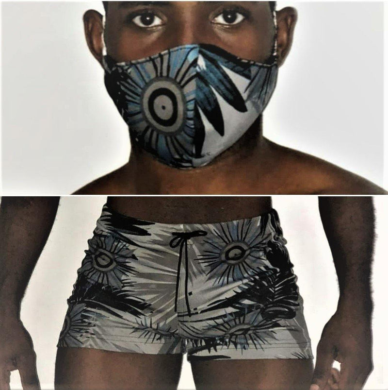 Sexy Swimwear Hot Pants and Mask Combo, Breathable. ONE SWIMWEAR/ONE MASK. RD-0090
