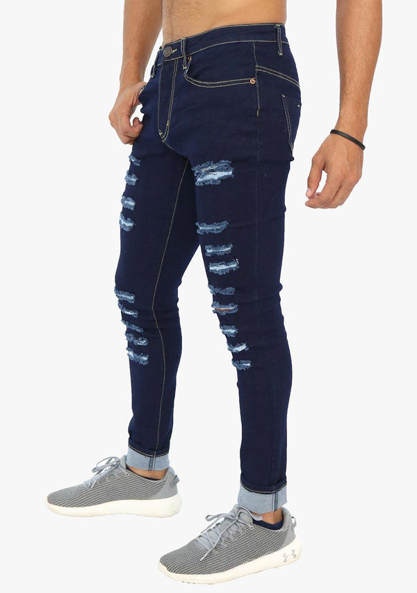 Harlem - Men's Skinny Fit Ripped Stretch Jean (AQ1657M) - AnthonyQuintana.com