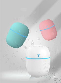 Humidifier  Personal humidity regulator, Purification 3D White, Pink and Green, Be Safe, Be Fashion