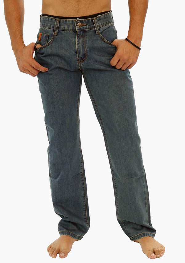 Sydney - AQ Men's Classic Straight Fit Jeans (AQ6911-A) - AnthonyQuintana.com