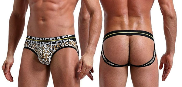 KS-0073- KS Futbol Leopard Jockstrap Underwear, Breathable. ONE PIECE. - AnthonyQuintana.com