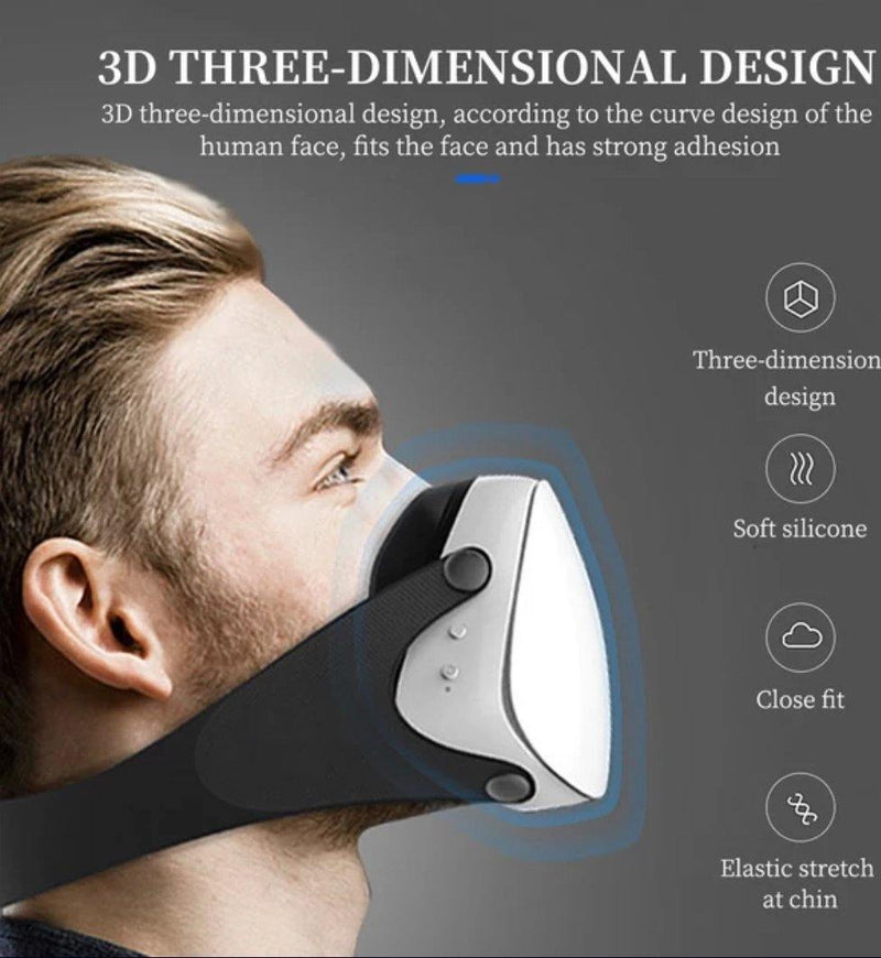 Fashion 3D Fashion Protective Mask White, Be Safe, Be Fashion