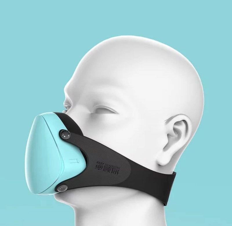 SMALL Faces (Youth and Slim faces)  Fashion 3D Fashion Protective Mask BLUE, Be Safe, Be Fashion