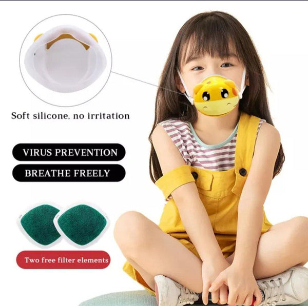 Fashion 3D Fashion Protective Mask BABY TIGER For Children Faces 5 years or more
