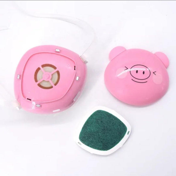 Fashion 3D Fashion Protective Mask PINKY PIG Unisex For Children Faces 5 years or more