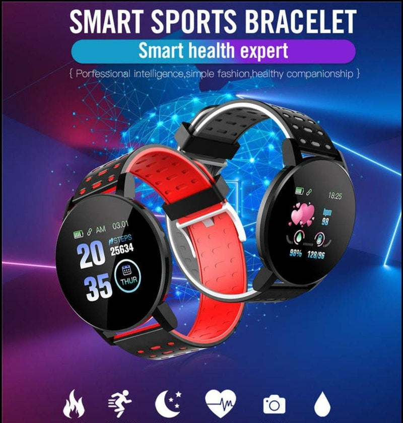 Smart Watch Bracelet, Nautical Red.  Fashion, Professional  Intelligence, Your Healthy Companionship  Be Safe, Be Fashion - AnthonyQuintana.com