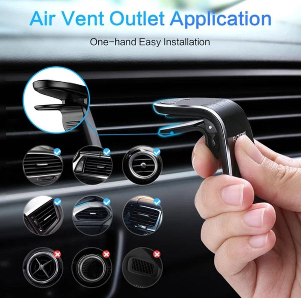 Magnetic Deluxe Mobile Car Holder Fashion   Black, Be Safe, Be Fashion