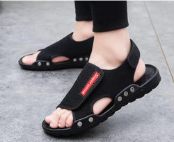 Fashion Euro Sandals for Men Summer Beach Men's Slipper Black Slide Slippers AQ6969 - AnthonyQuintana.com