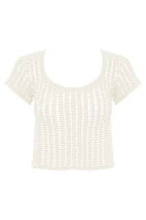Sita Cotton Crochet Short Sleeve Top