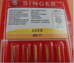 2045 Ball Point Singer Needles for Domestic Machines