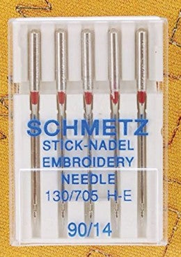 Schmetz Embroidery Needle 130/705 H-E Assorted