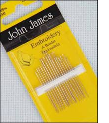 John James Hand Sewing Needles Embroidery