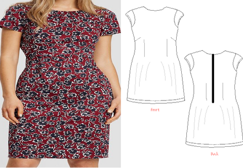 8016 Easy Shift Dress Standard Printed Version