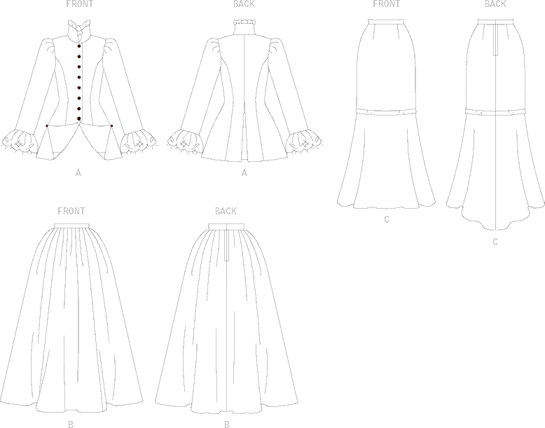 Butterick Patterns B4954 Misses//Misses Petite Early 20Th Century Costume 16-18-20-22 Size FF