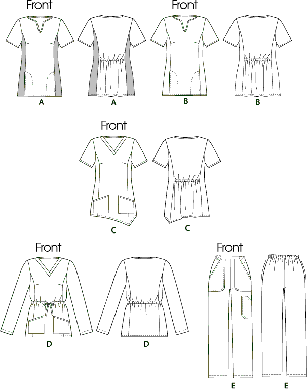 McCall's Pattern M6473 Misses Womens Tops and Pants 6473 Line Art From Patternsandplains.com