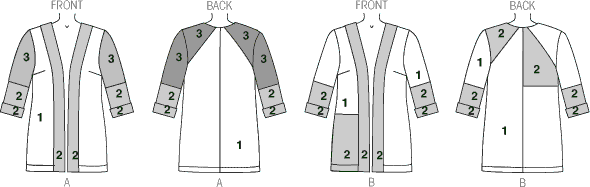 McCall's Pattern M7132 Misses Jackets 7132 Line Art From Patternsandplains.com
