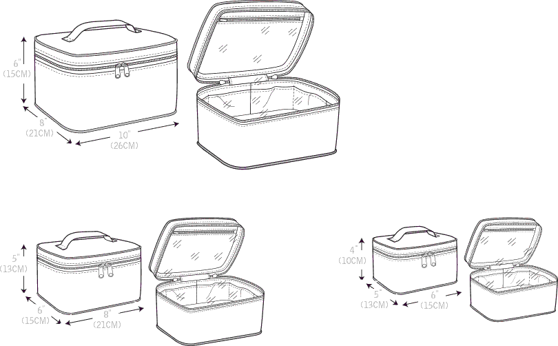 McCall's Pattern M7487 Travel Cases in Three Sizes 7487 Line Art From Patternsandplains.com