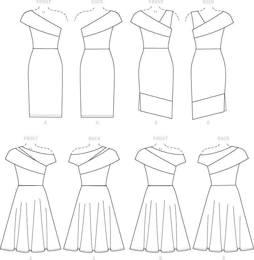 McCall's Pattern M7926 Misses and Womens Special Occasion Dresses 7926 Line Art From Patternsandplains.com
