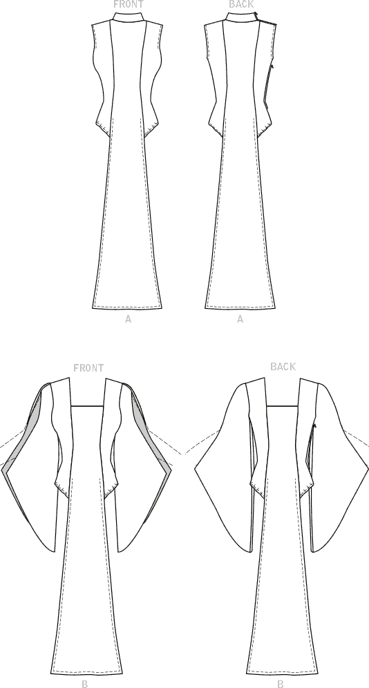 McCall's Pattern M8187 Misses Leotard With Front and Back Panel 8187 Line Art From Patternsandplains.com