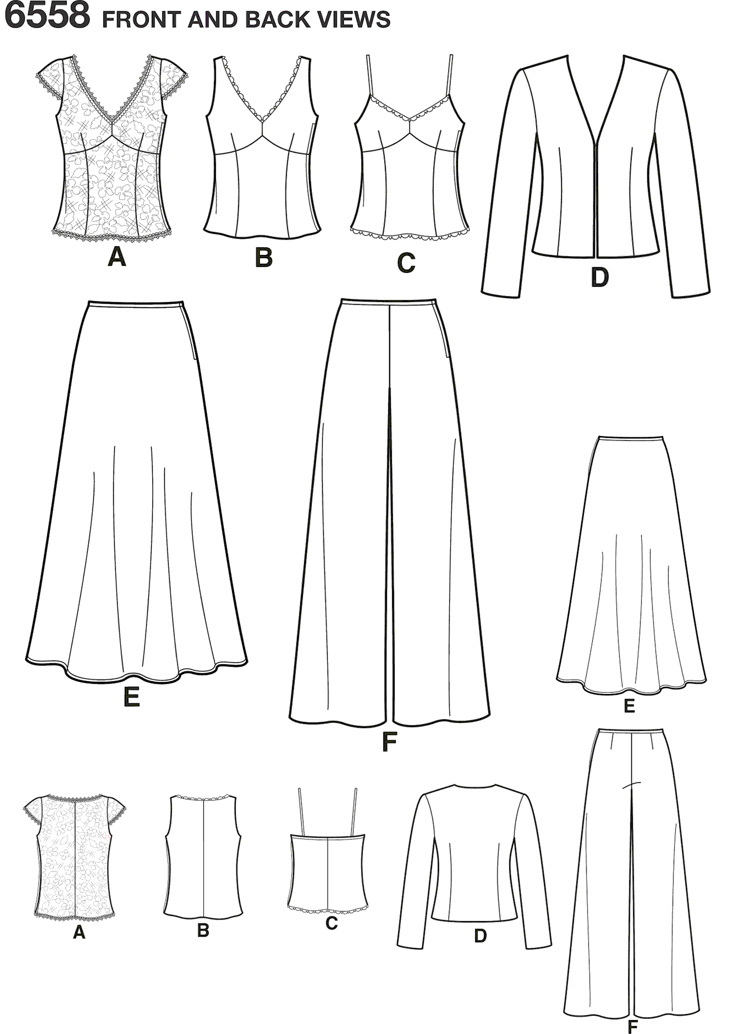 New Look Pattern 6558 Misses Special Occasion Dresses Line Art From Patternsandplains.com