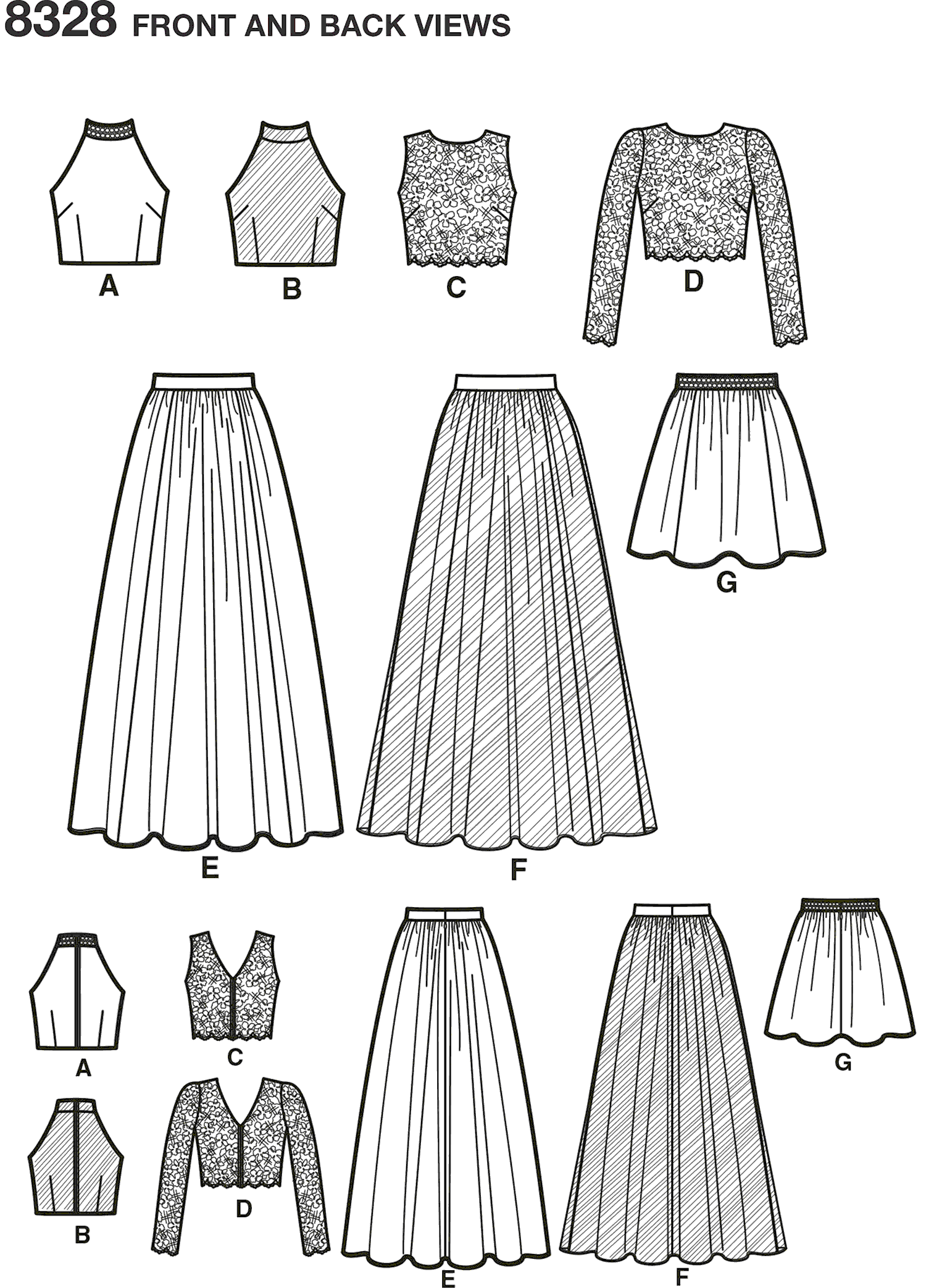 Simplicity Pattern 8328 Womens Special Occasions Dress Line Art From Patternsandplains.com