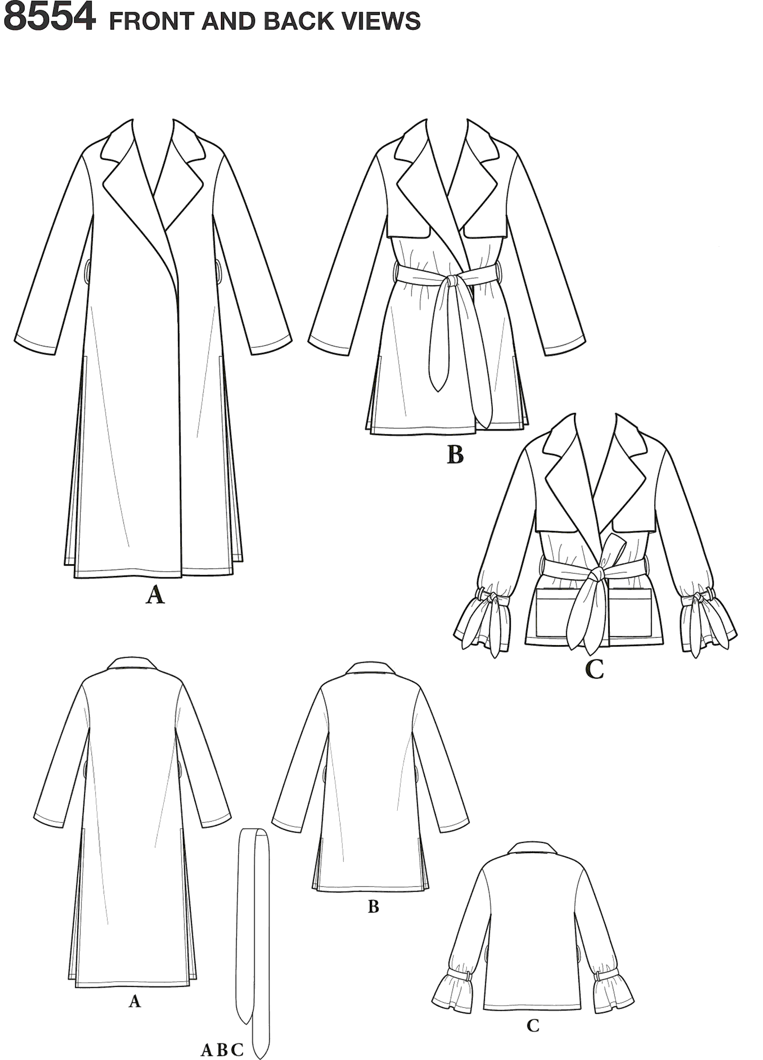 Simplicity Pattern 8554 Womens Petite Womens Coats and Jackets Line Art From Patternsandplains.com