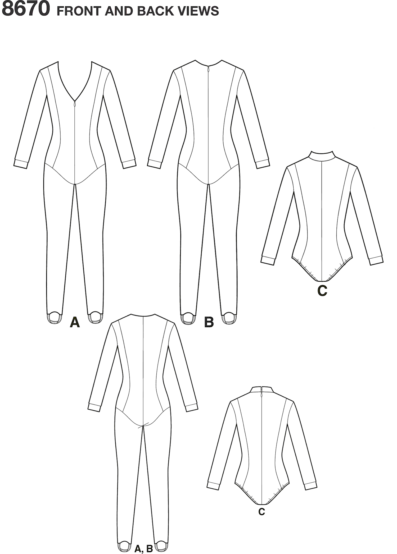 Simplicity Pattern 8670 Womens Knit Costume Line Art From Patternsandplains.com